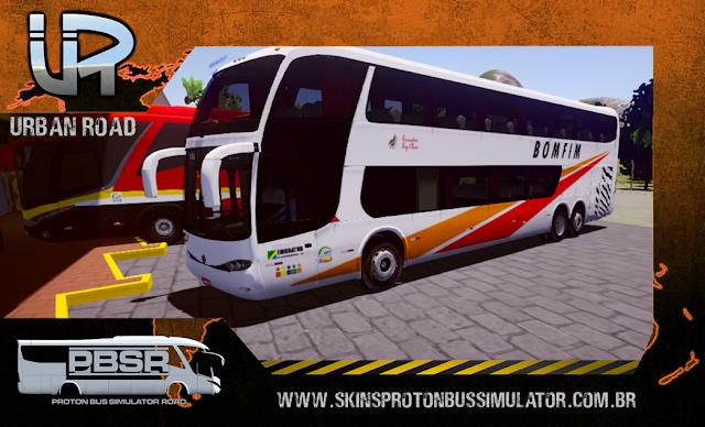 Skin Proton Bus Simulator - G6 1800 Scania K124 Viação Bomfim