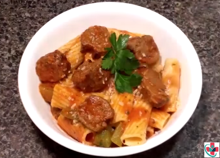 Saucy sausage pasta recipe