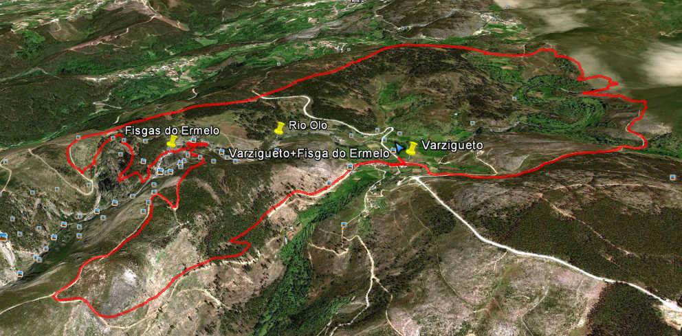 fisgas do ermelo mapa PéLetras: Alvão: Varzigueto   Fisgas do Ermelo   Mapas fisgas do ermelo mapa
