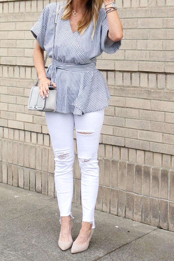 glamorous tall stripe kimono top
