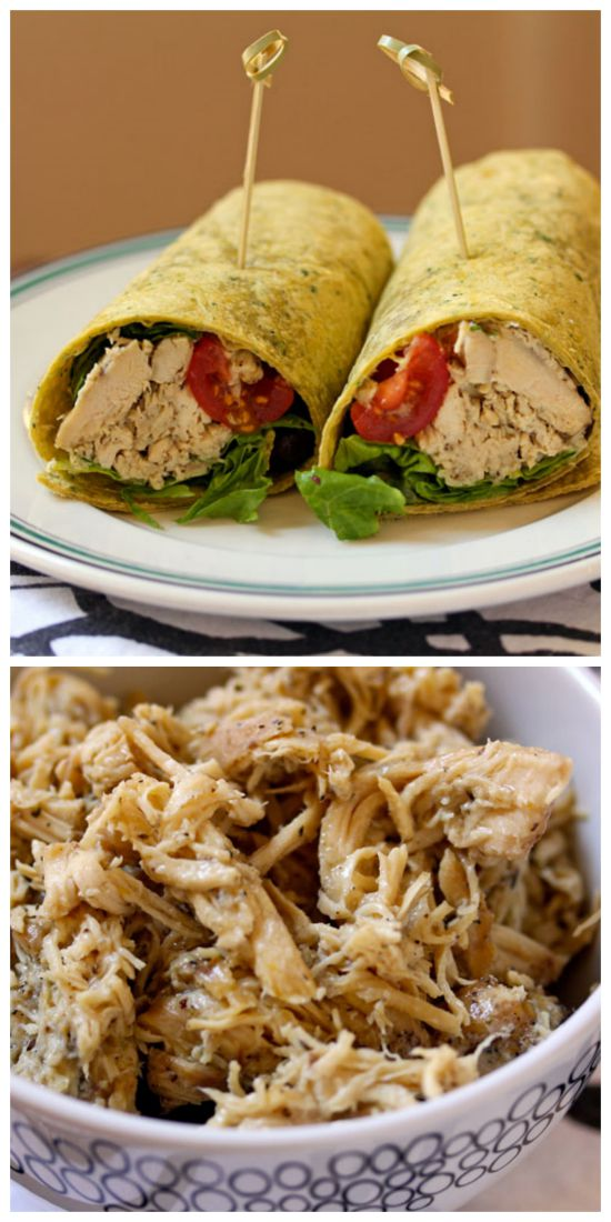 Slow Cooker Greek Chicken Roll-Ups with Tomatoes, Olives, and Feta Cheese from The Perfect Pantry featured on SlowCookerFromScratch.com.