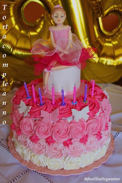 Fusillialtegamino Torta Di Compleanno Bambina Con Rose In
