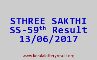 STHREE SAKTHI Lottery SS 59 Results 13-6-2017