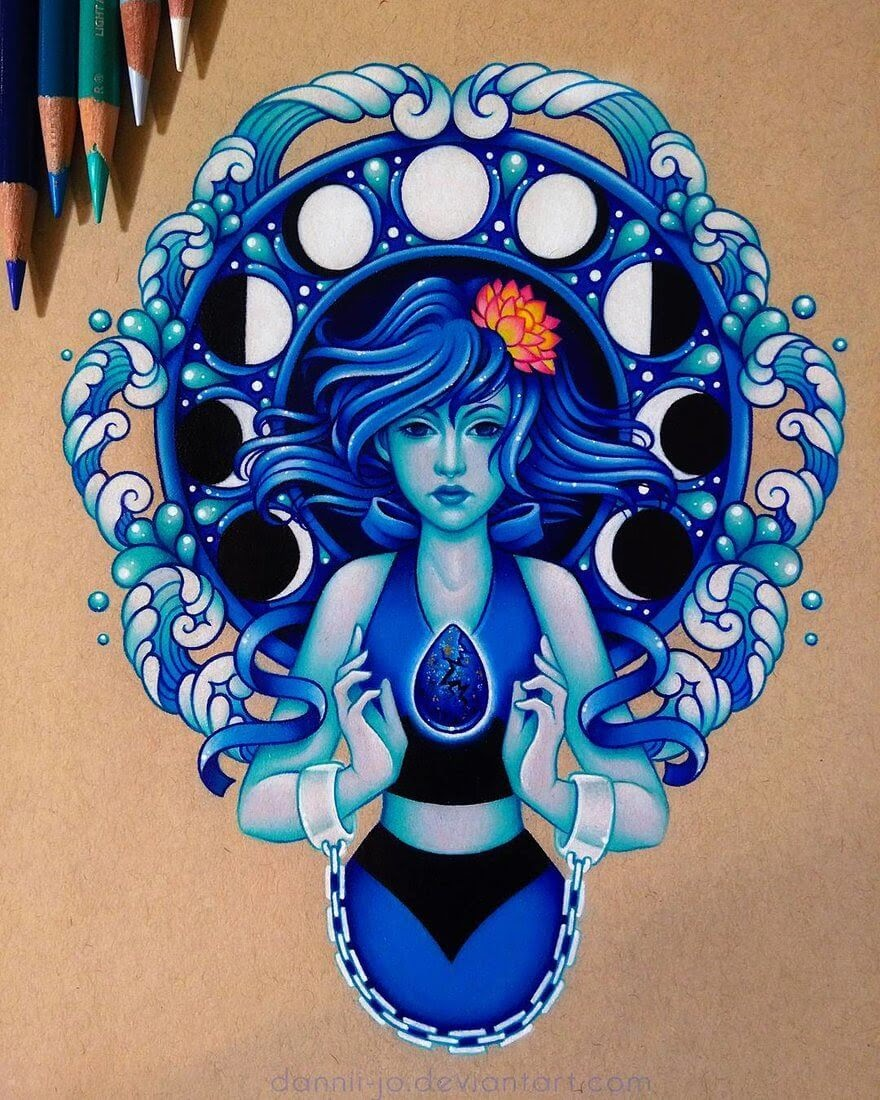 05-Lapislazuli-Stevenuniverse-Danielle-Washington-Brightly-Colored-Pencil-Drawings-www-designstack-co