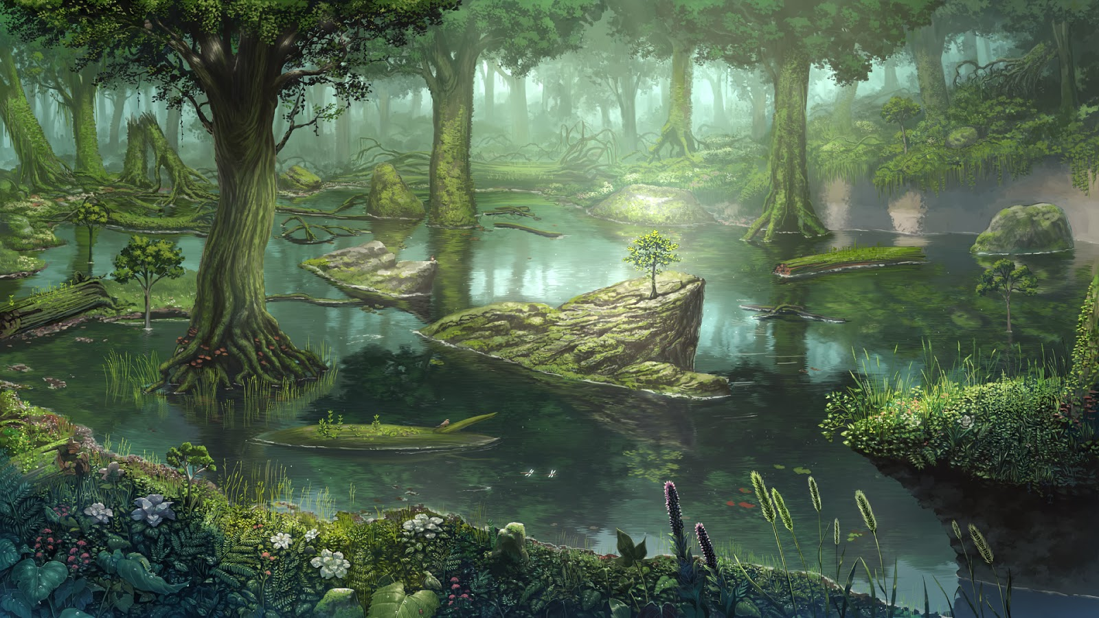 Fantasy Wallpapers: Fantasy forest landscape (Wallpaper) Heartbreak Images For Facebook