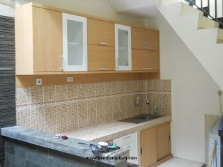 Kitchen Set Multiplek HPL Laminate Corak Kayu