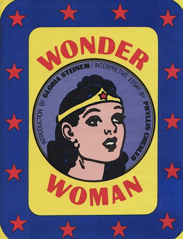 Cover to 'Wonder Woman' collection with vintage head shot of character in circle