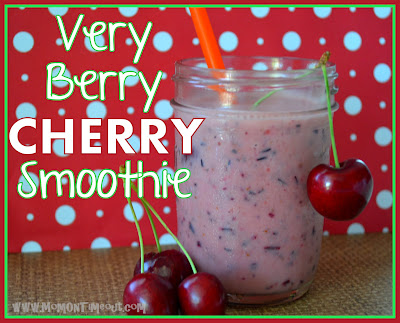 Very Berry Cherry Smoothie | Mom On Timeout