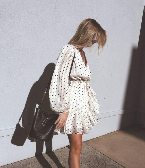 wrap dots dress