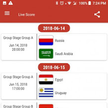 Aplikasi Update Pertandingan dan Live Score Piala Dunia 2018