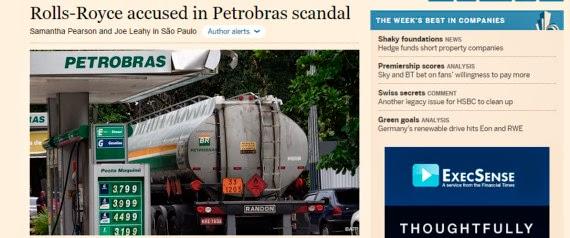 Rolls-Royce pagou suborno a funcionários da Petrobras!