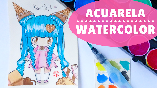 Koori Style, KooriStyle, Koori Atelier, KooriAtelier, Speedpaint, Drawing, Speed Drawing, Acuarela, Watercolor, Copic, Staedtler, Chibi, Dibujo, Cute ,Kawaii