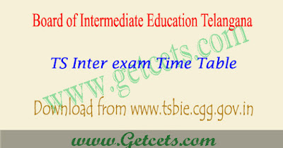 TS Intermediate time table 2019-2020 1st & 2nd year exam dates