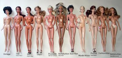 Tipos de corpo das bonecas Barbie