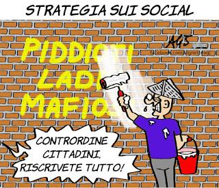 pd, m5s, social, troll, insulti, politica, alleanze, governo, vignetta, satira