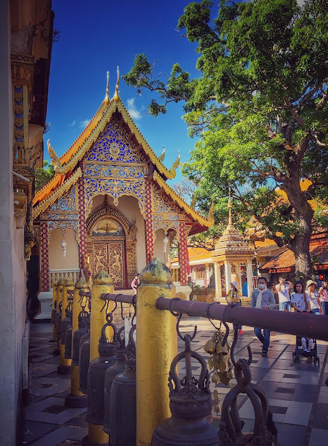As I shared earlier, if you have only one day in Chiang Mai and you want to explore the place, I strongly recommend Doi Suthep because it offers plenty of things at one place - Architecture, culture, religion, hike, nature and some amazing landscapes.     If you liked this post and found it helpful, I would request you to follow these things when traveling -   1. Manage your waste well and don't litter Use dustbins. 2. Tell us if you went to a place and found it hard to locate a dustbin.  3. Avoid bottle waters in hills. Usually you get clean water in hills and water bottles create lot of mess in our ecosystem.  4. Say big no to plastic and avoid those unhealthy snacks packed in plastic bags. Rather buy fruits.  5. Don't play loud blaring music in forests of jungle camps. You are a guest in that ecosystem and disturbing the locals (humans and animals) is not polite