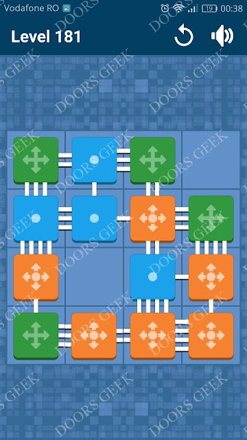 Connect Me - Logic Puzzle Level 181 Solution, Cheats, Walkthrough for android, iphone, ipad and ipod