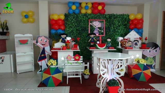 Decoração de aniversário Show da Luna - Festa infantil feminina