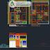 مخطط بيت صغير دوبلكس اوتوكاد dwg