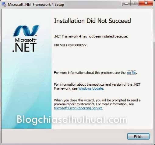 Khắc phục lỗi HRESULT: 0xc8000222 khi cài Net Framework
