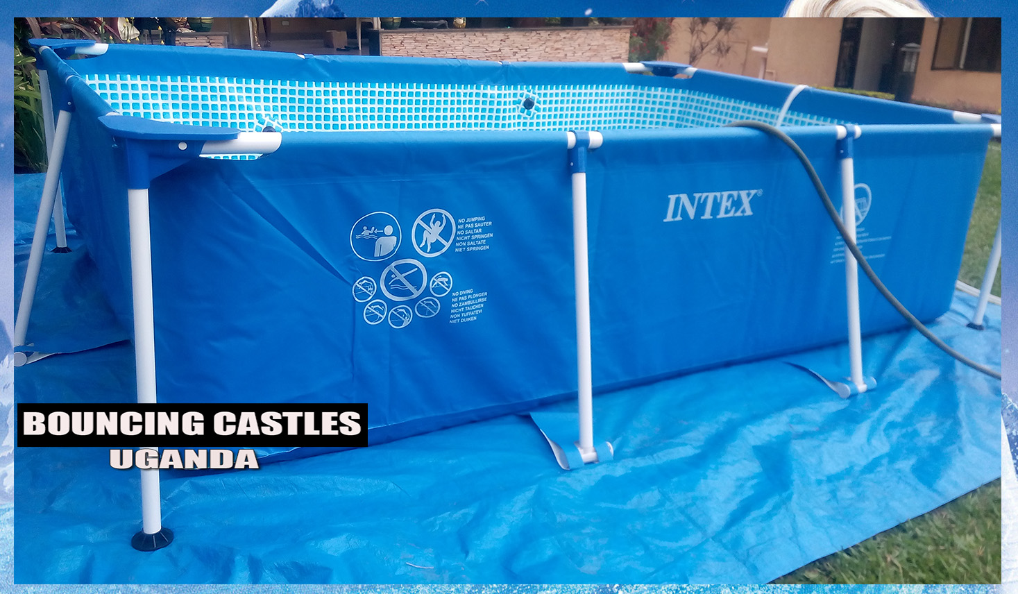 Bouncing castles uganda portable swimming pools for hire for Portable pool