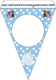 Cinderella Birthday Party Free Printable Banner.