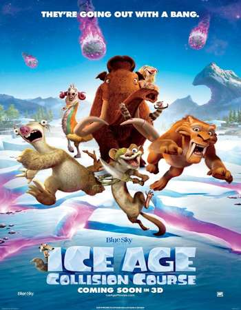 Poster Of Ice Age Collision Course 2016 ORG Dual Audio 120MB BRRip HEVC Mobile ESubs Free Download Watch Online downloadhub.net