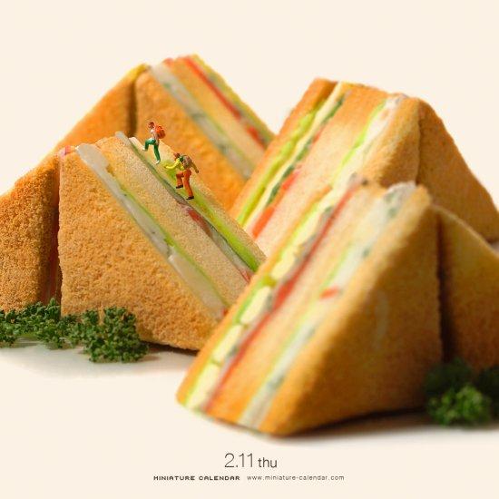 Tatsuya Tanaka arte fotografia miniaturas dioramas divertidas surreais arte criativo japão comidas alimentos vegetais