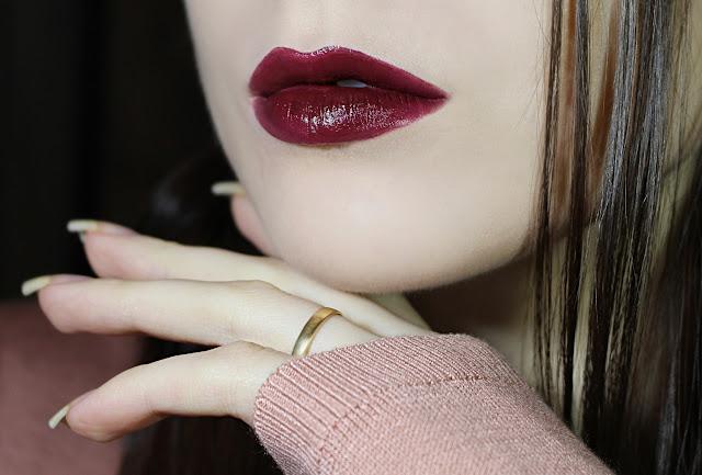 dark gothic burgundy wine vampire lips lipstick