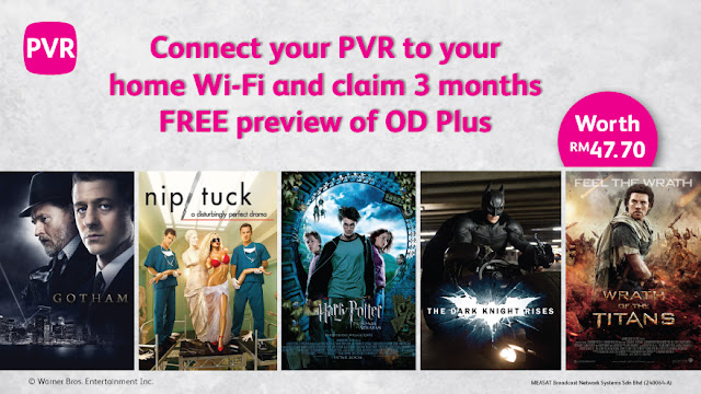 Connect your PVRs before 31 Jan 2016 will enjoy 3 months' free access to OD Plus's content