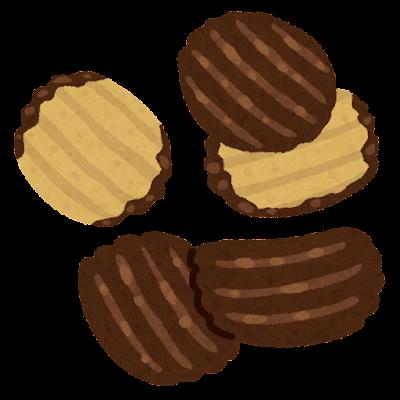 チョコがけポテトチップスのイラスト