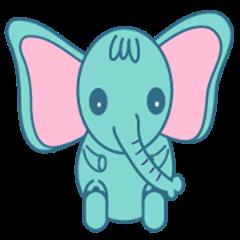 Blue naughty elephant