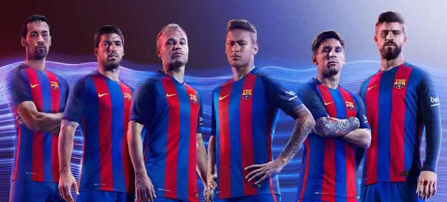 Barcelona Resmikan Jersey Kandang 2016/17