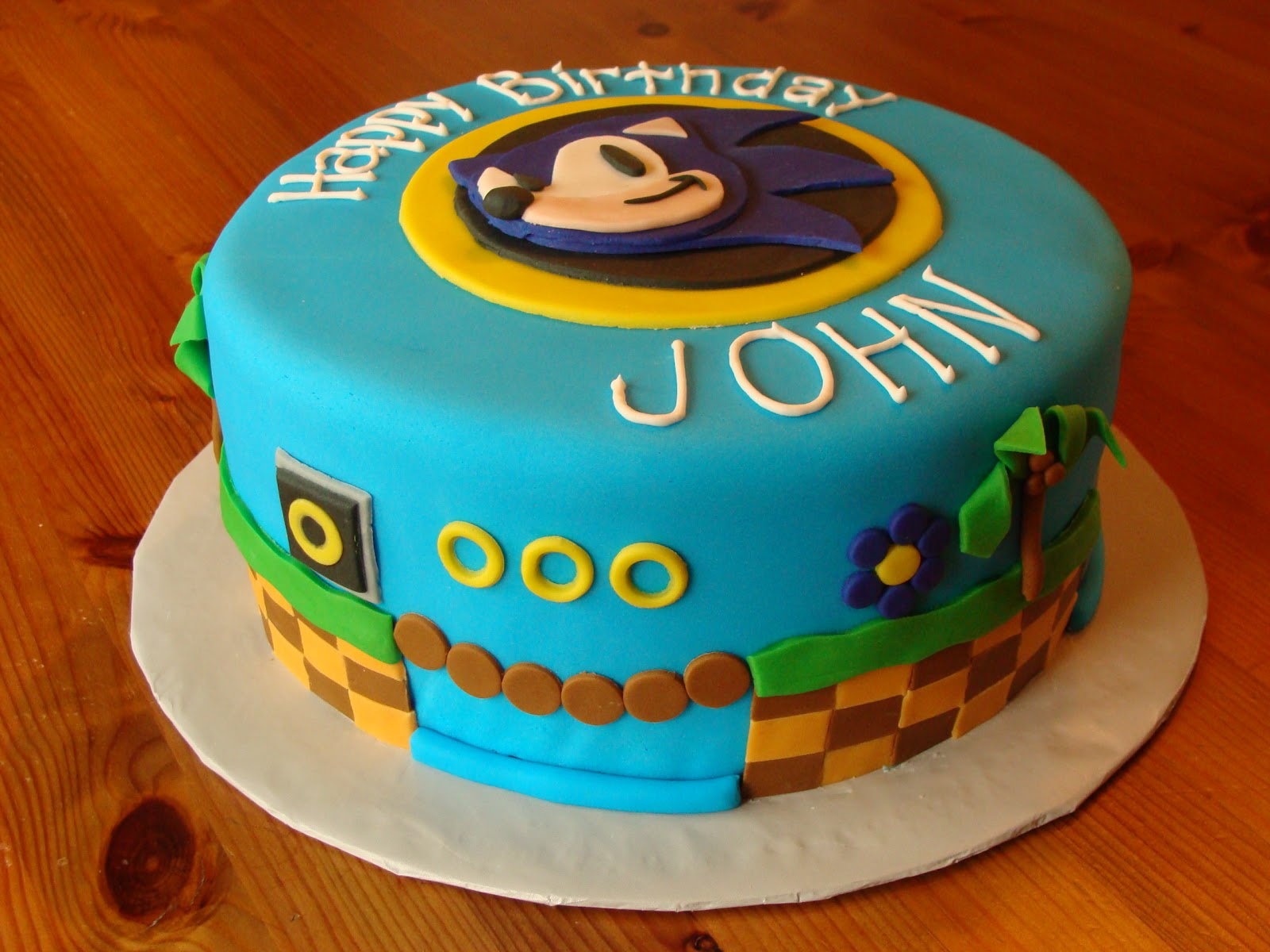Sweet Treats By Bonnie Sonic The Hedgehog Cake