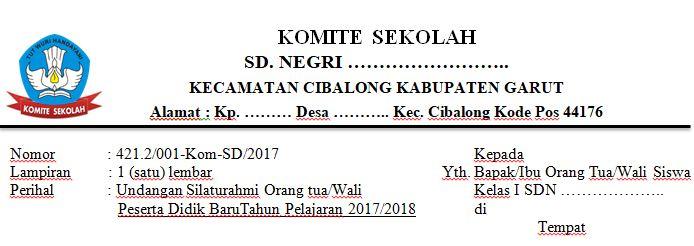 Contoh Surat Undangan Kepala Sekolah Kepada Orang Tua ...