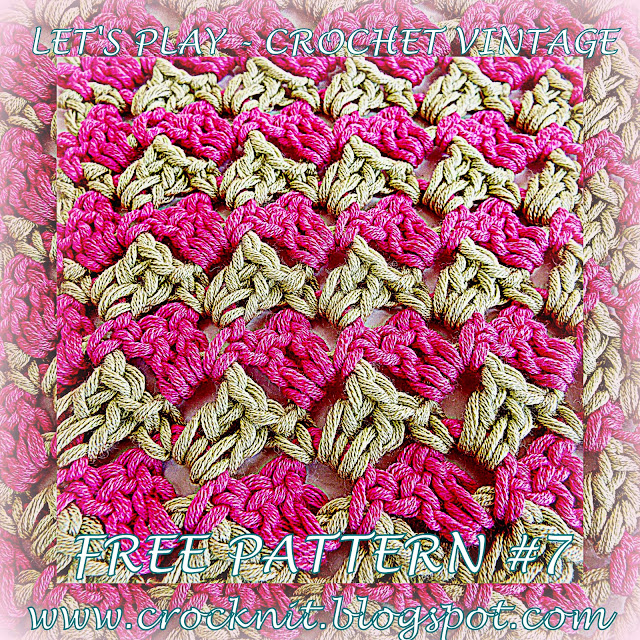 free crochet patterns, zig zag, how to crochet, vintage crochet,