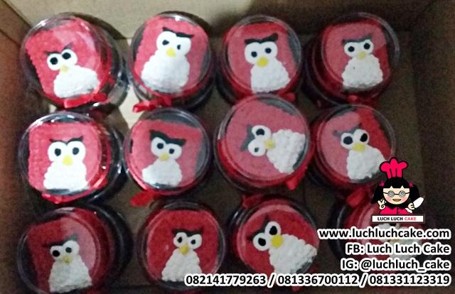 Mini Cake Souvenir Ulang Tahun Tema Angry Bird