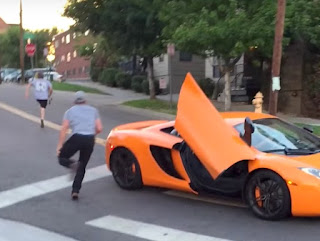 Skateboarder Smashes McLaren's Windscreen For Hooting At Him