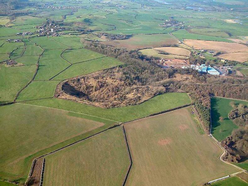 El cráter y la explosión de Fauld | Inglaterra