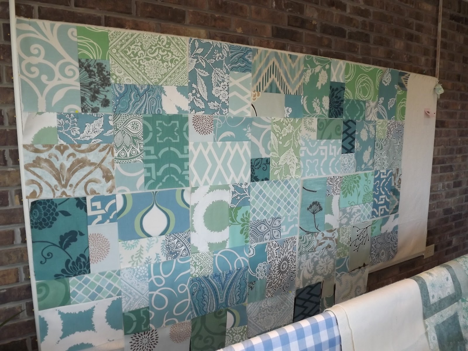Patchwork Quilt Teal Aqua Blue Quilts To Make Pinterest