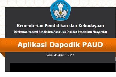 Download Aplikasi Dapodik PAUD Versi 3.2.1