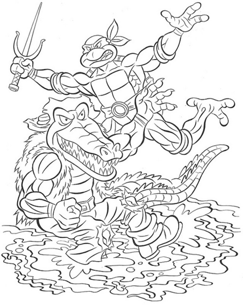 Tmnt 2003 coloring pages ~ Ninja Pizza | Teenage Mutant Ninja Turtles News & Information
