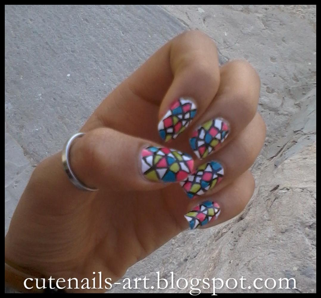 cutenails-art: Funny Nails :Stained Glass Nail Art