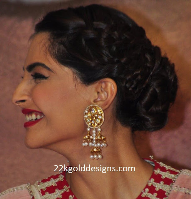 Sonam Kapoor in Pearl Earrings