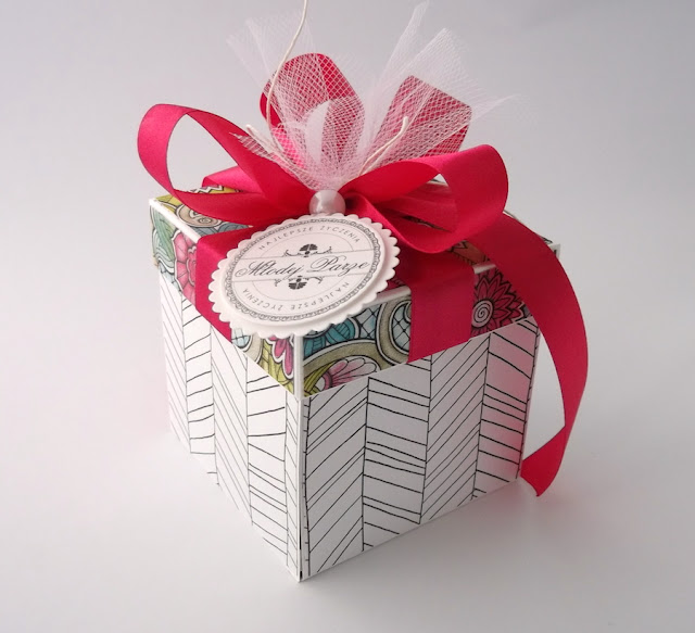 pudełko na ślub Witraż Fuksja