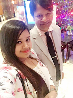 Bidya Sinha Saha Mim's Father Birendra Nath Saha and Sister Progga Sinha Saha Momi