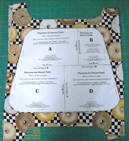 Pattern For Placemats For Round Table.Sid S In Stitches Easy Placemats For A Round Table Free Pattern