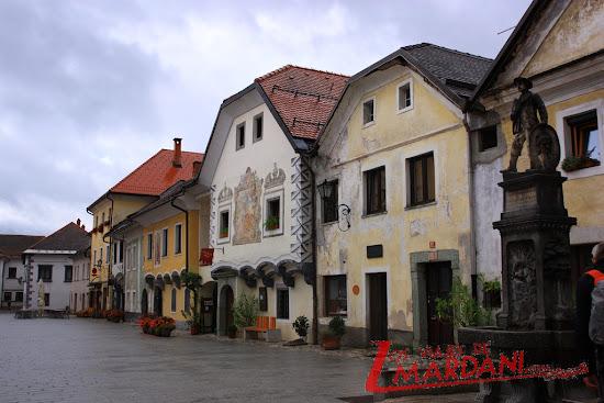 Casas de la famosa plaza de Radovljica