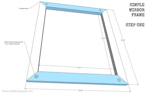 free plans simple mirror frame