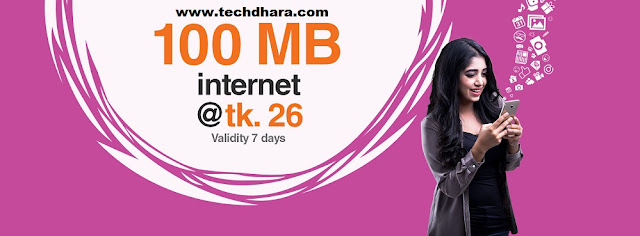 Banglalink 100MB internet data Tk. 26 for 7 days